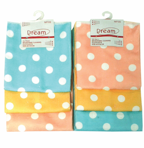 MF09 - Microfibre Cleaning Cloth Dots